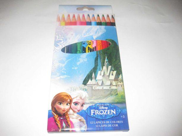 """Kit Escolar Lápis de Cor do """"Frozen"""" Embalado!"""