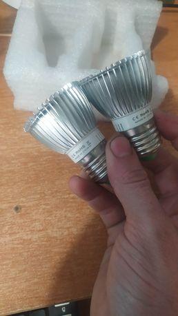Фитолампа фито 2 лампа для растений, полный спектр E27, 28 LED 8Вт
