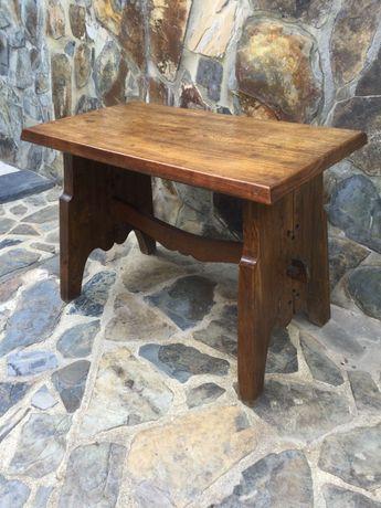 Mesa banco de convento em madeira Antiga 88 cm Rústico