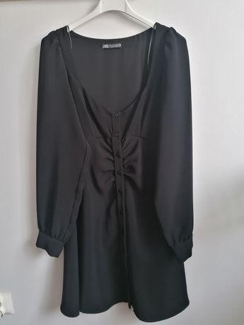Czarna mini sukienka Zara