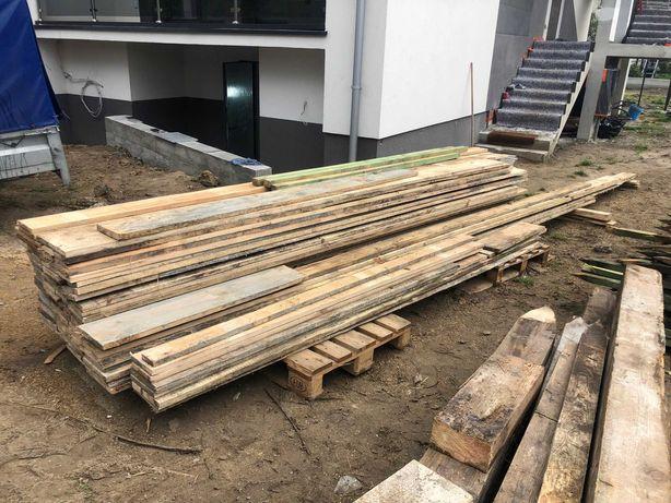Deski szalunkowe do ogrodzenia + kołki + wyparcia - gotowy zestaw kpl.