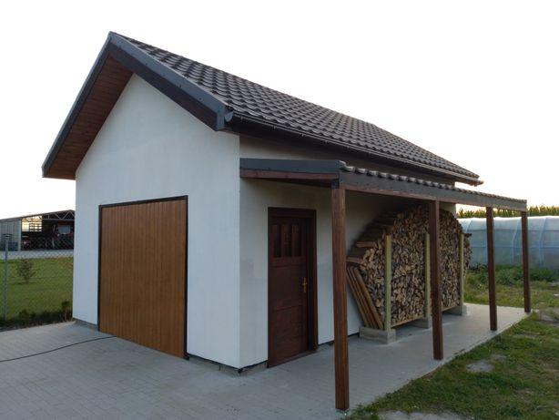 Dom letniskowy całoroczny szkieletowy garaż wiata altana