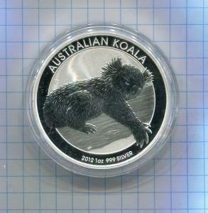 Австралия 1 доллар 2012 ПРУФ серебро Коала