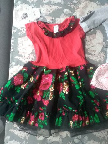 Sukienka dla dziewczynki wzór góralski nowa