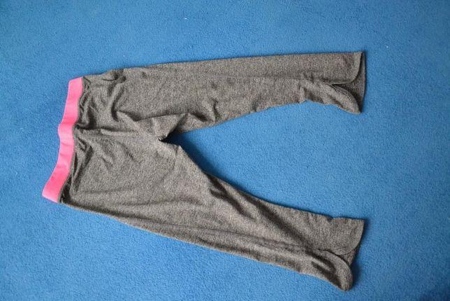Szaro różowe leginsy dziewczęce H&M EUR 146/152