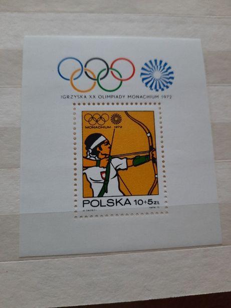 Znaczki czyste polskie 1972