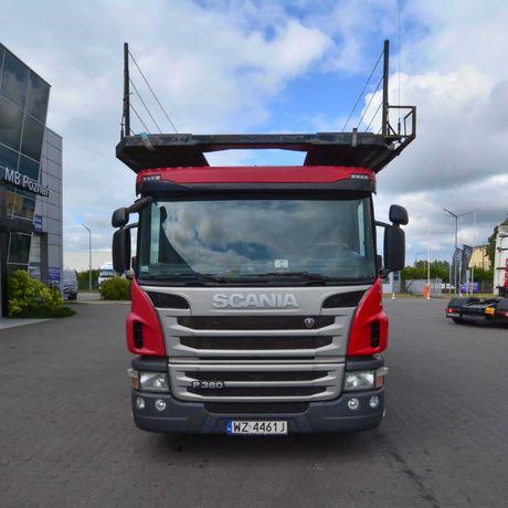 Scania P360 z 2014 roku + EUROLOHR 1,21 z 2004r Autotransporter