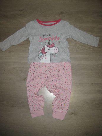 Primark Baby piżamka jednorożec 80 cm 9-12 ms