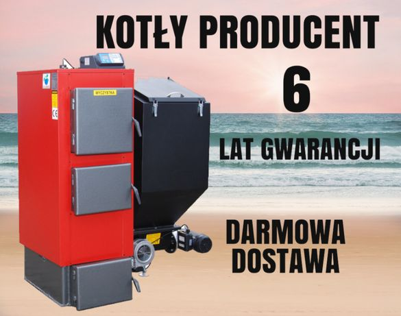 48 kW Kocioł do 420 m2 Piec na EKOGROSZEK Kotły z PODAJNIKIEM 45 46 47