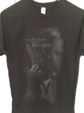T-shirt filme Sweeney Todd Johnny Depp