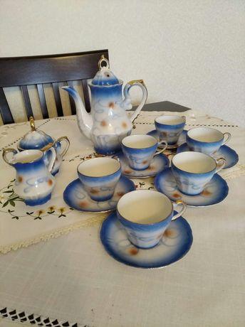 Zestaw kawowy porcelanowy z pozytywką