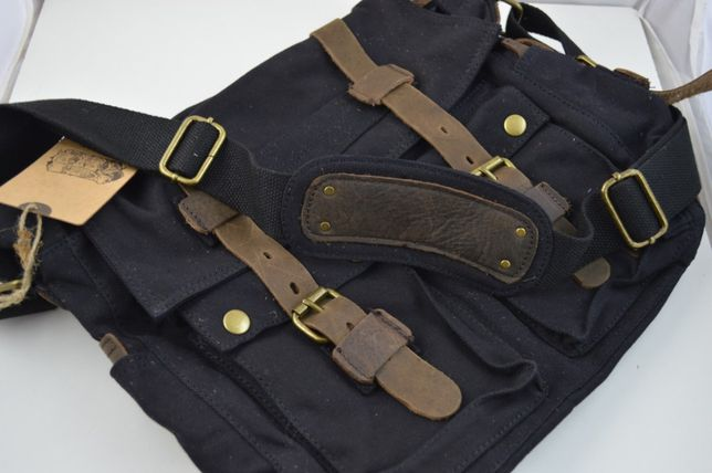 NOWA Torba stylowa Canva typu Vintage - Military- Posłaniec (Messenger