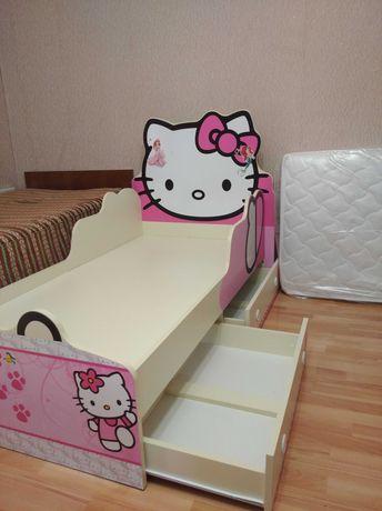 """Дитяче ліжко, кровать детская 80*160 см """"Хелло Кіті"""" (Hello Kitty)"""