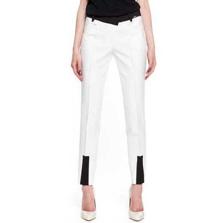 Spodnie simple czarne białe xs