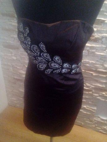 Sukienka elegancka brąz