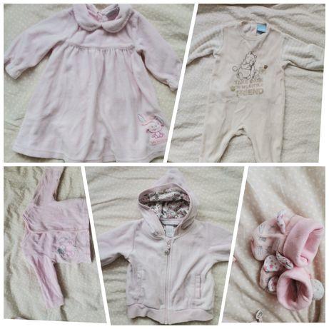 Ubranka zimowe dla dziewczynki r. 74