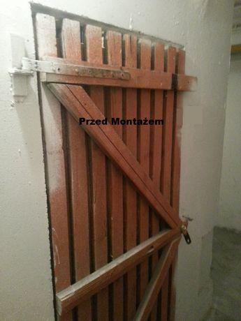 Zabezpieczenie piwnicy, płaskownik, kłódka GERDA, śruba zamkowaM10 8.8