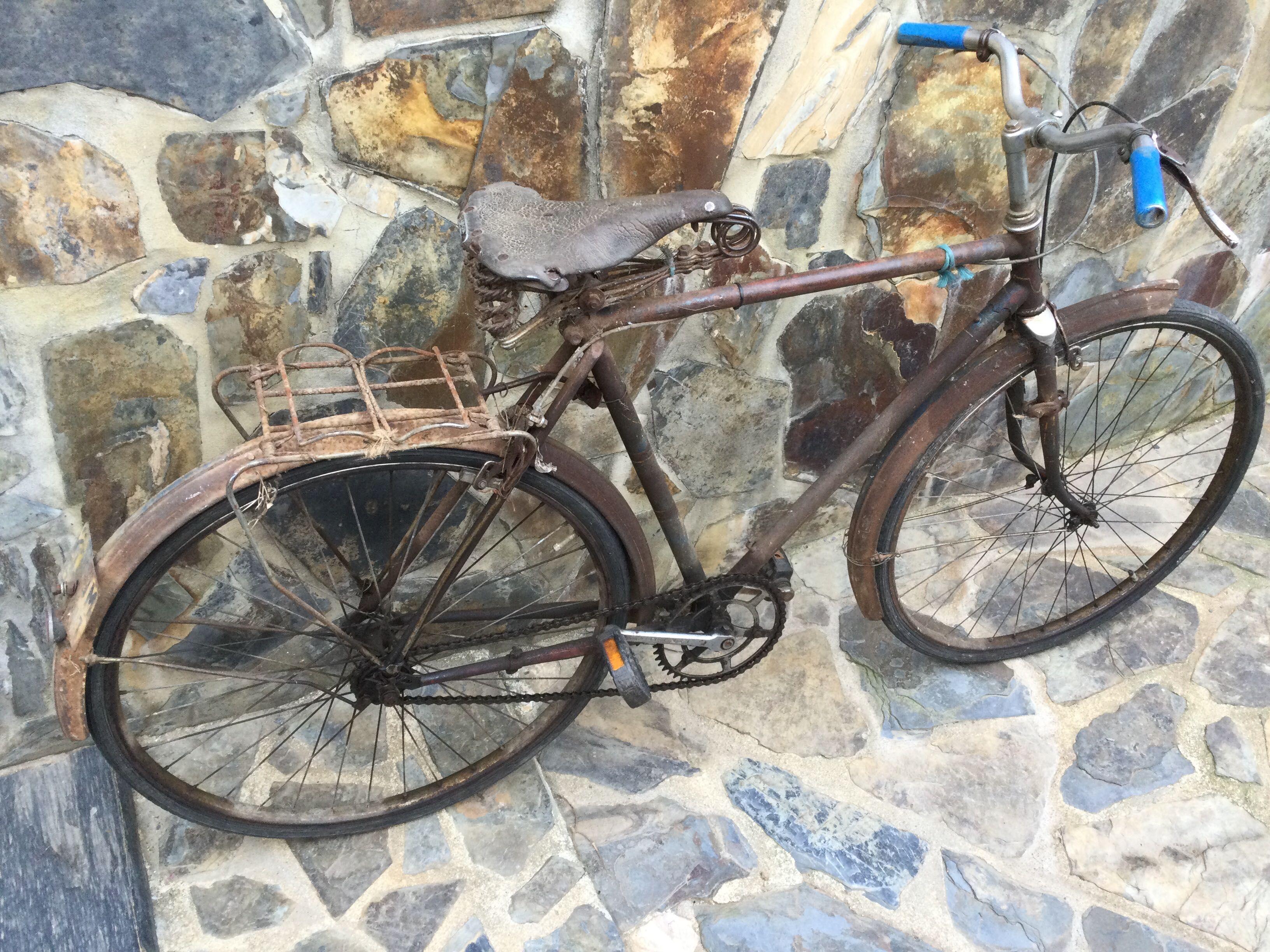 Bicicleta pasteleira Vintage Antiga Matrícula Alentejo Odemira