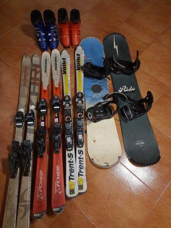Продам гірські лижі, борди, черевики, стан б/у.