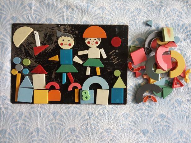 Магнитные фигурки на доске, СССР