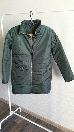 Куртка зимняя темно-зеленая