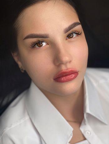 Перманентный макияж( брови и губы)