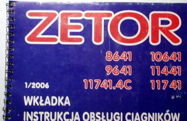 Zetor Forterra 8641, 9641, 10641, 11441, 11741, 12441 instrukcja kat