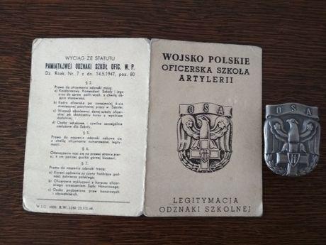 OSA wyższa oficerska szkoła artylerii Toruń PRL lwp