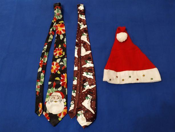 Галстук (краватка,колпак)с новогодним принтом,музыкой,светом