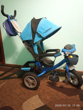Велосипед со свето-музыкальной панелью Turbo Trike на надувных колесах