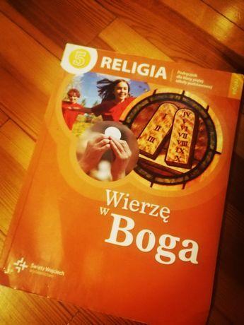 Książką do Religi do klasy 5.