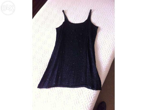 Vestido de cerimónia preto (usado uma vez)
