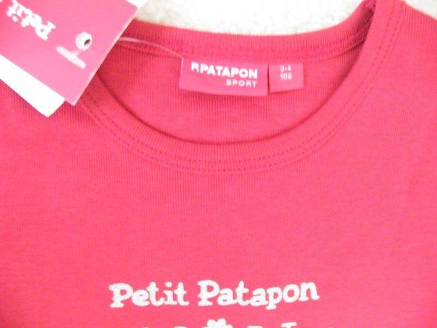 2 T-shirts 3 anos Girandola e Petit Patapon - PORTES GRÁTIS