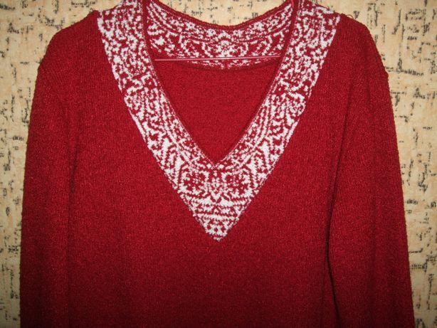 Красивый пуловер свитер кофта р.52-54