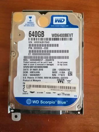 Disco rígido HDD (WD Scorpio blue) 640 GB para portátil, PS e Xbox