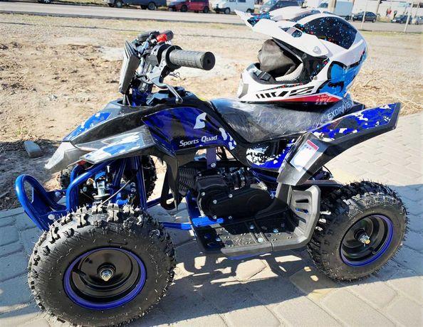Бензиновый детский синий квадроцикл ExDrive 65 куб.