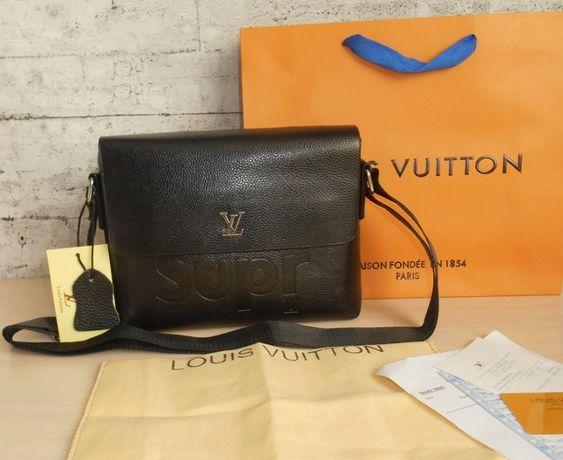 Louis Vuitton Skorzana męska torebka Listonoszka skóra, Francja LV 206