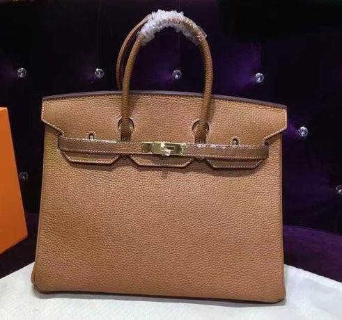 Mala Hermes Birkin Bag 35cm Gold Togo Leather Beige Camel GHW
