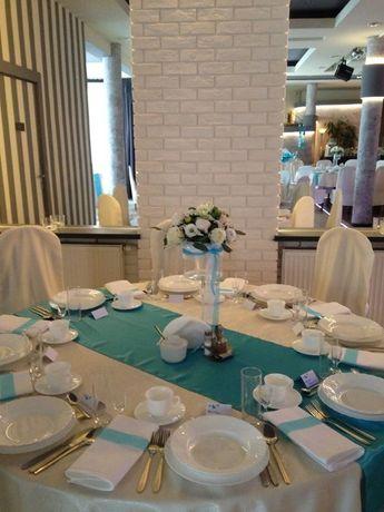 Zestaw 23 sztuki- Bieżniki na stoły weselne. kolor Tiffany Blue
