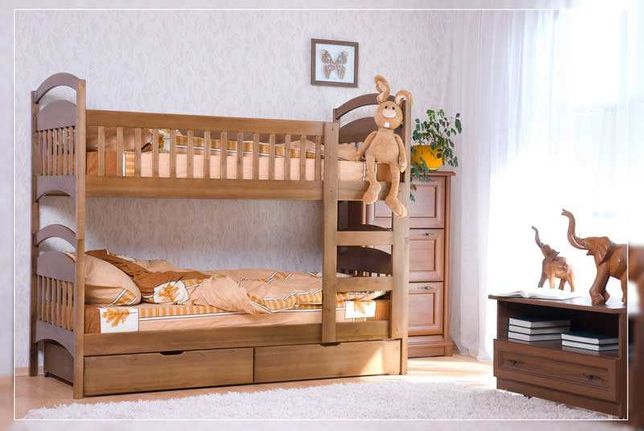Двухъярусная кровать + матрасы и ящики. Напрямую от производителя