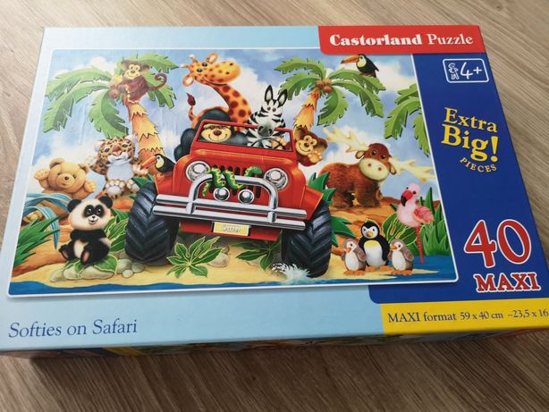 Puzzle duże maxi 40 el. Safari - Jak nowe!