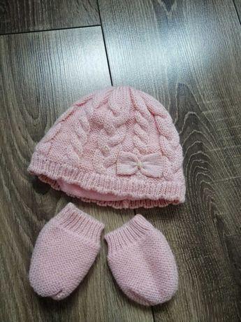 Komplet czapka +rękawiczki