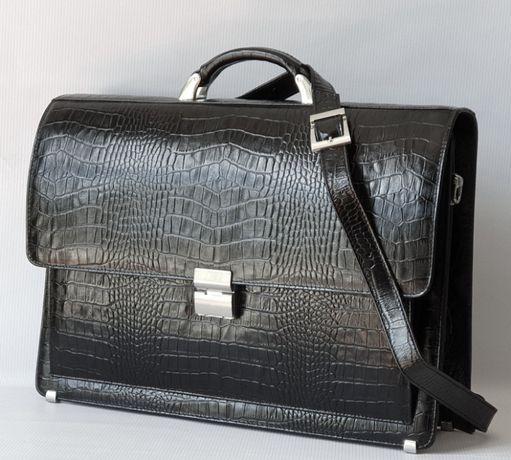 Мужской кожаный портфель Desisan 216-11. Кожа. Турция.