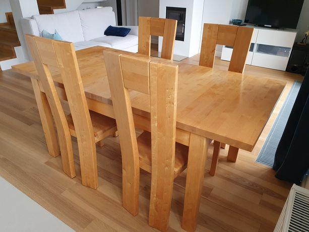 Drewniany stół i 4 krzesła Elbrus Szynaka