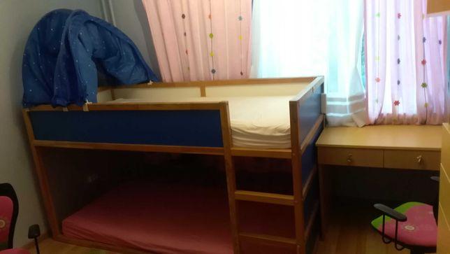 Pilnie sprzedam łóżko piętrowe Ikea kura z baldachimem