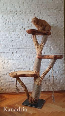 Drapak z siedziskiem dla kota