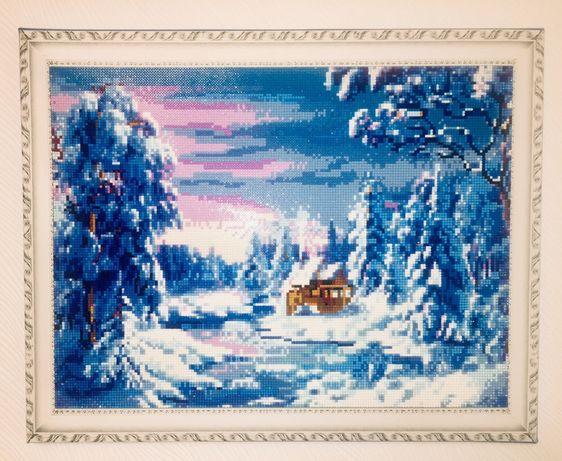 Картина алмазная «Зимняя сказка» hand made