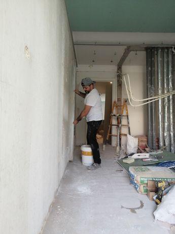 Pintor polivalente barramentos de pladur, estuques remodelação