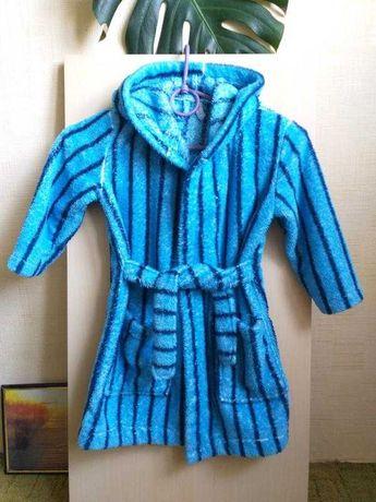 Синий полосатый халат calando