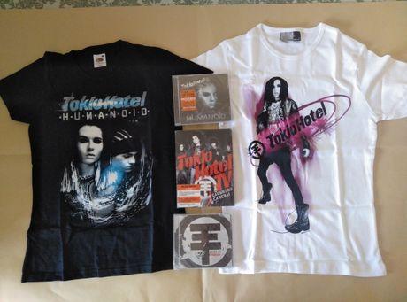 Tokio Hotel: T-shirts, vários CD, DVD Artigos novos e Selados